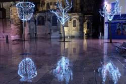 Valence Drome 26 Nuit Noel Cathedrale reflet