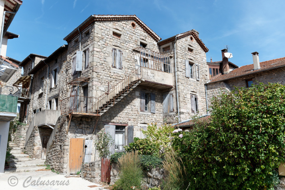 Ardeche Architecture village escalier