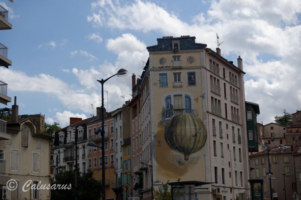 Ardèche Fresque Beaux-arts facade Architecture