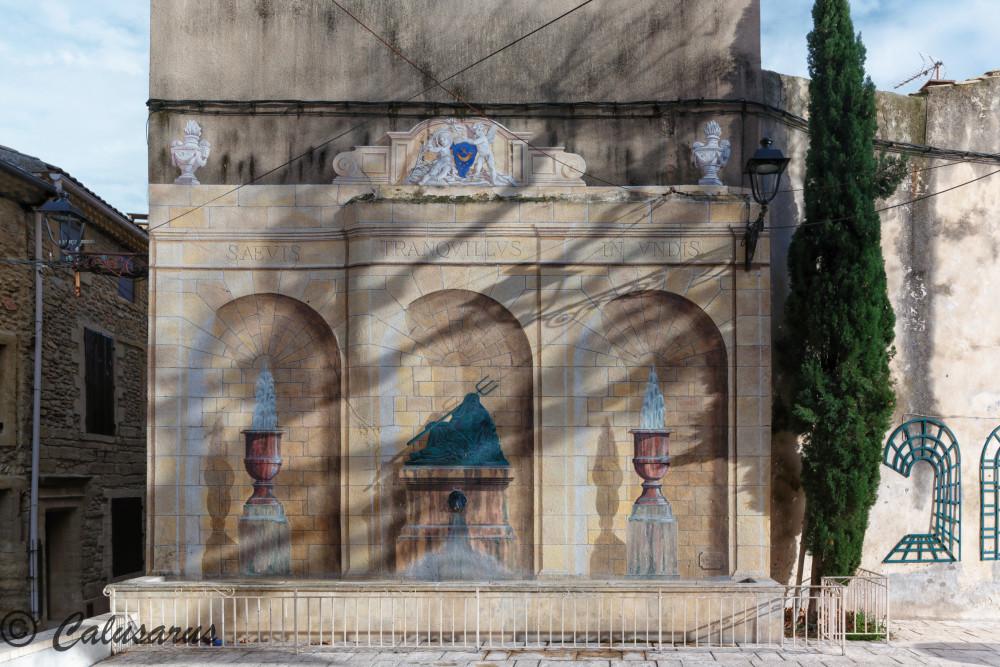 Baeux-arts Vaucluse Trompe-l'oeil Art Courthezon