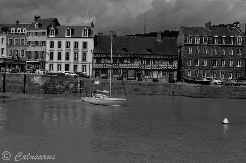 Paysage Seascape Nb BnW Bateau Seine Maritime