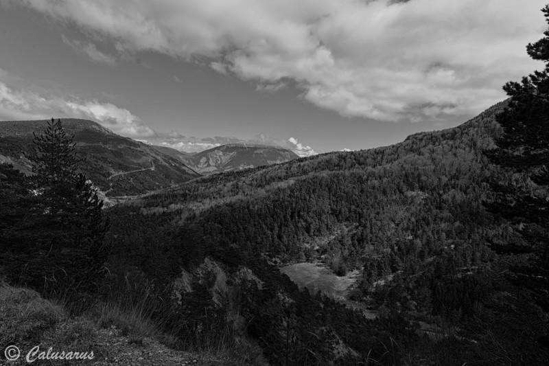 Paysage Montagne Gap N&B