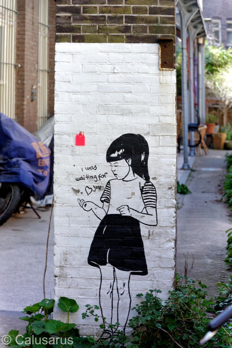 Amsterdam Art Silhoutte Graffiti