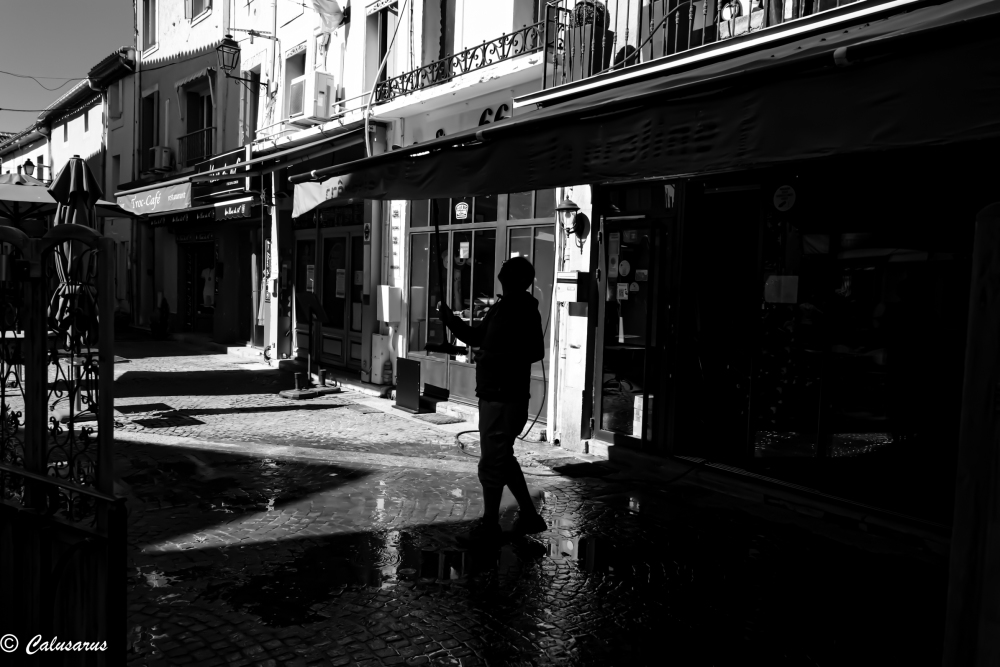 Paysage Vaucluse N&B Rue StreetPhoto