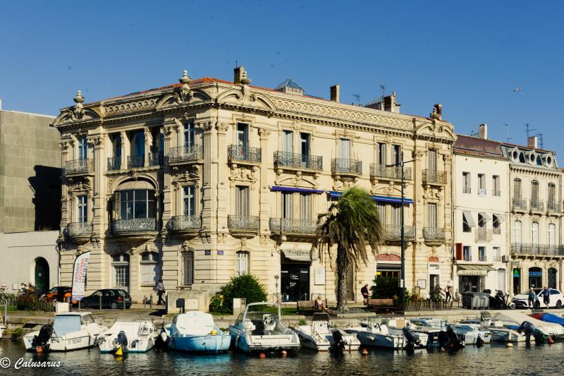 Paysage Port Sète Hérault bateau