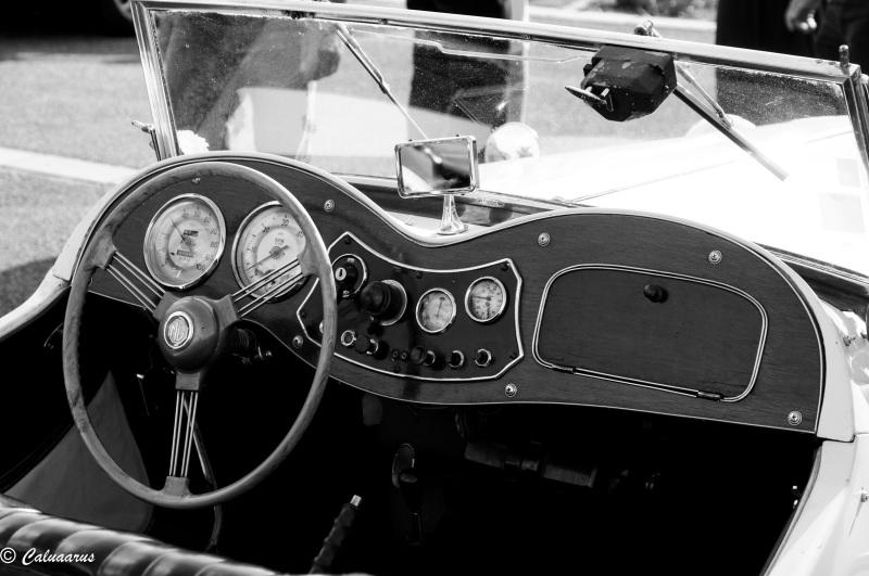 Drome 26 Bourg Péage Automobile MG N&B