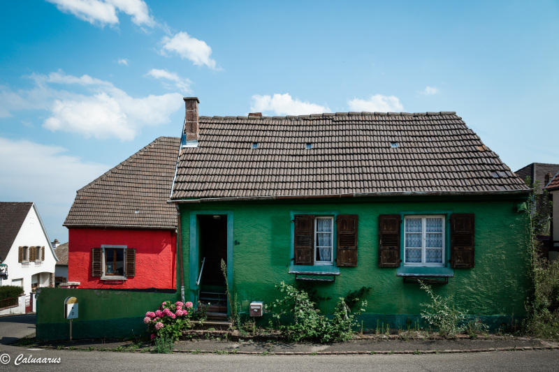 Paysage Façade Couleurs Maisons Haut-Rin Alsace