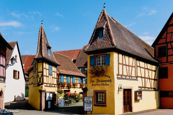 Alsace Architecture Eguisheim Maison