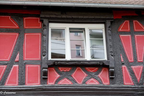 Architecture colombage fenêtre Reflet