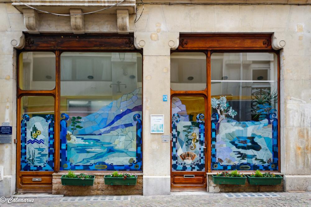 Savoie Aix Vitrine Bleu