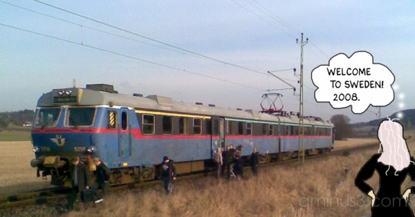 The train. Thank you G, for the photo!