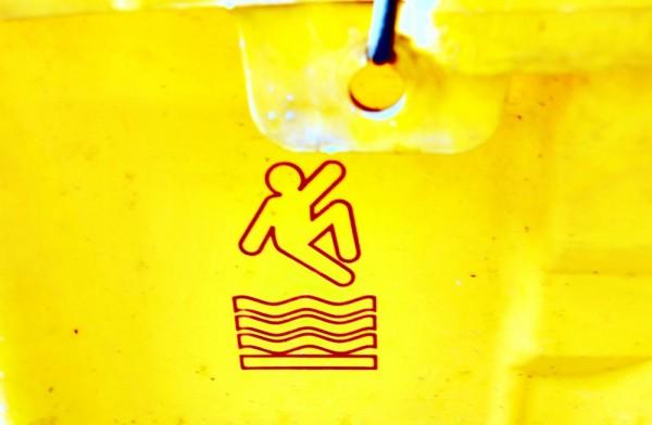 caution: slippery floor
