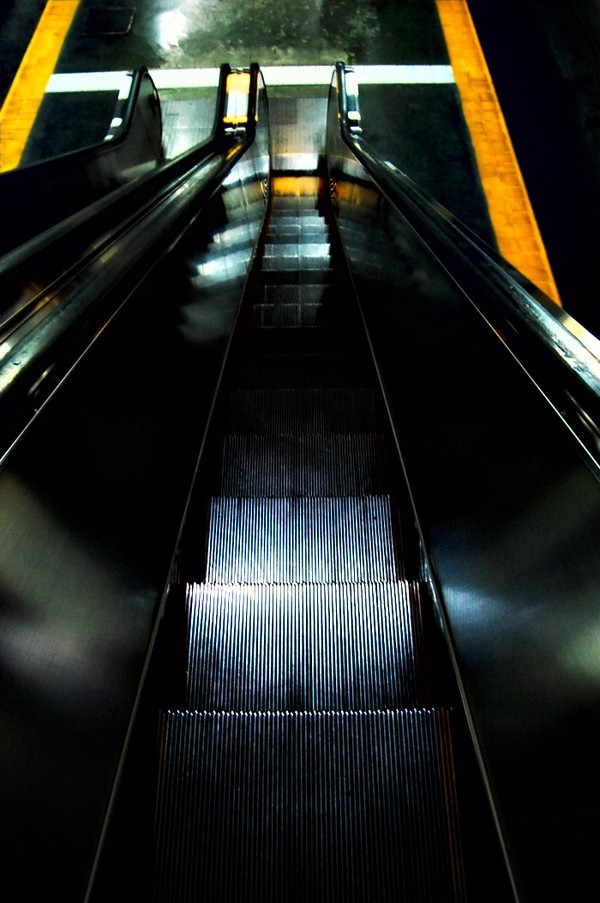 mrt station escalator