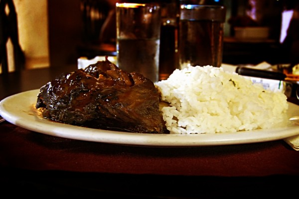 The hickory smoked spare ribs at Chocolate Kiss