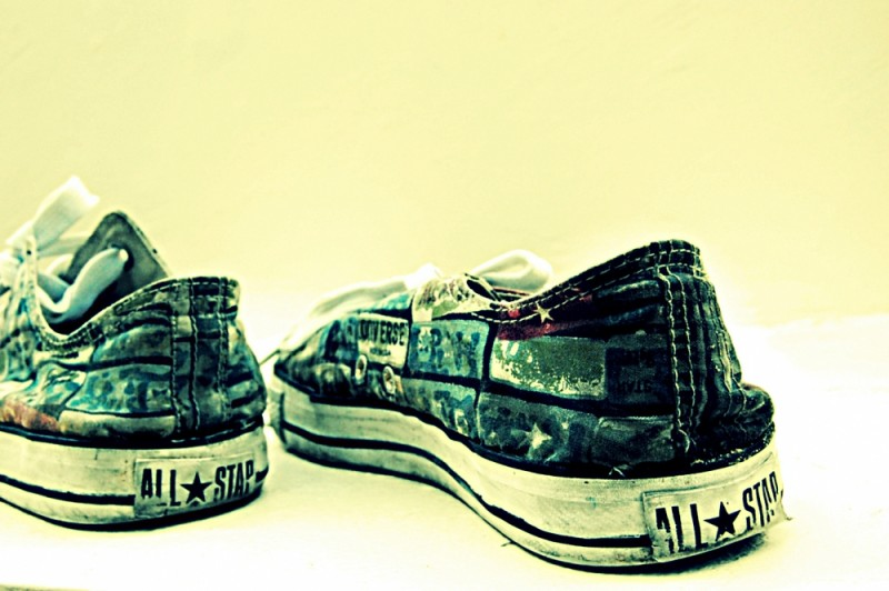 A Pair of Printed Converse All Star