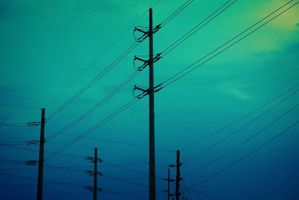 Electricity Posts Before Pasig City Sky