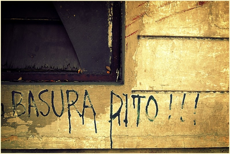 """""""Basura Dito"""" Graffiti at Pasig City"""