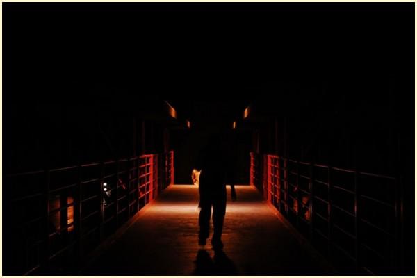 Silhouette at MMDA Footbridge in Katipunan