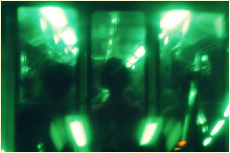 Through a Green-tinted Train Glass