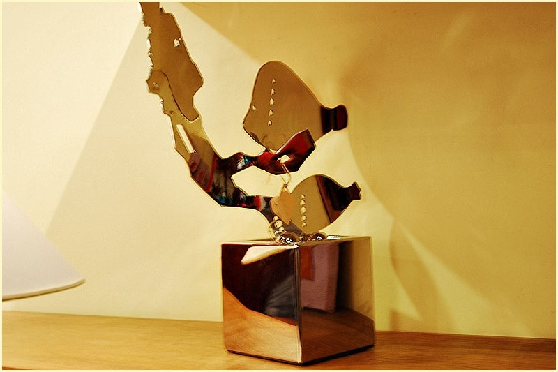 A Metal Sculpture at Habi Gallery