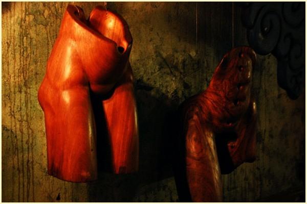 Pelvis Wood Sculpture at Mogwai, Cubao X