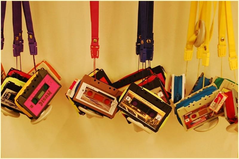 Multicolored Casette Tape Necklace Wallets