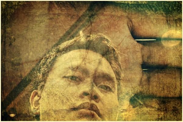 Photomanipulated Self-portrait on Palm