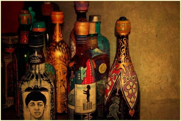 Painted Bottles at Habi Art Gallery, Serendra