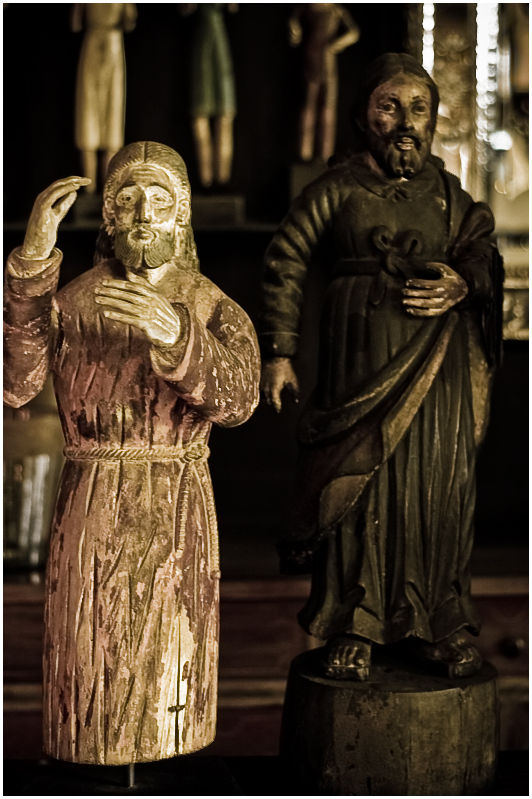 Antique Wood Sculpture of Jesus Christ