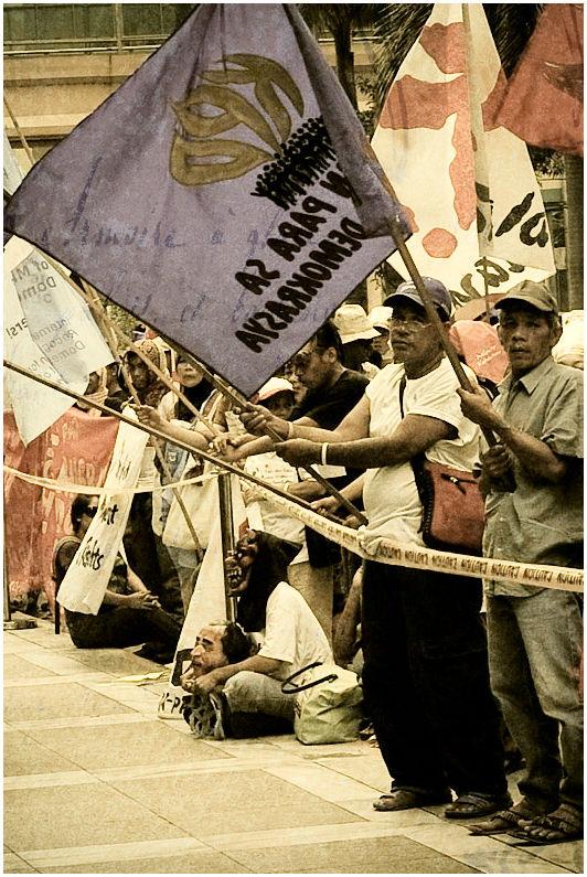 Anti-globalization Rally at Ortigas, Metro Manila