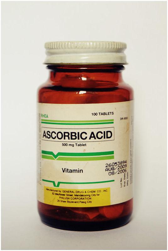 Bottle of Rhea Ascorbic Acid/ Vitamin C
