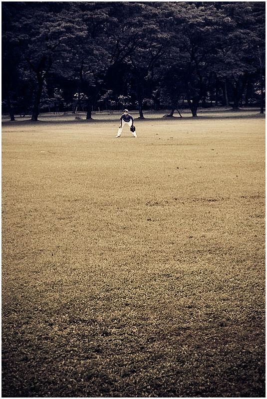 Ateneo Baseball Boy Far Out in the Field