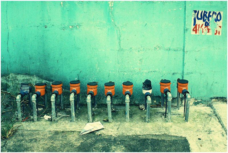 water meters cyan wall tubero paperplane