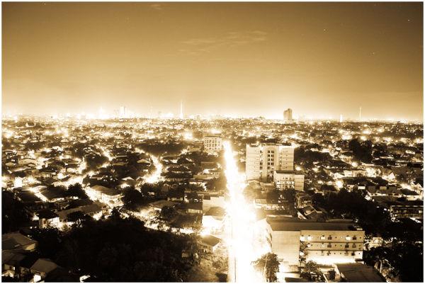 Xavierville Avenue, Quezon City at Night