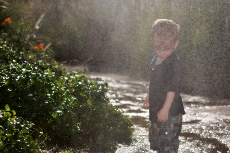Child playing in the Rain Forest