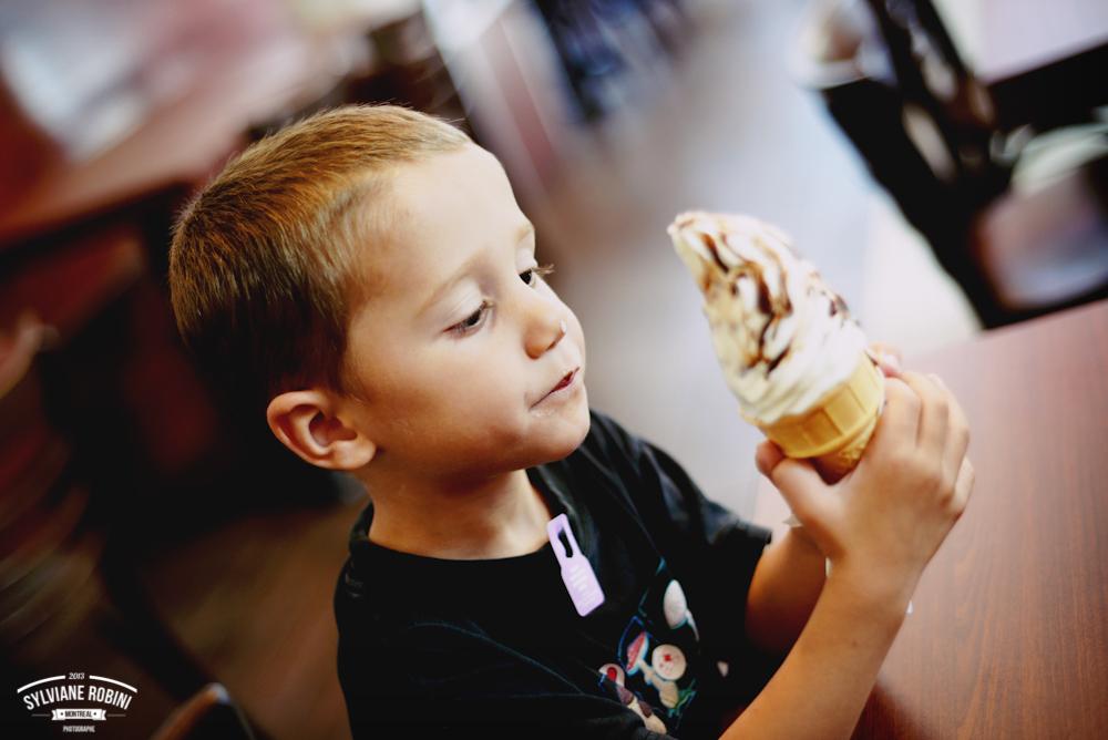 Little man, big ice-cream