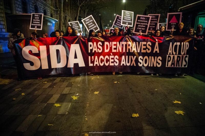 Manifestation ACT-UP Paris