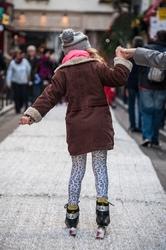 Première glisse. Rue Princesse, Paris.