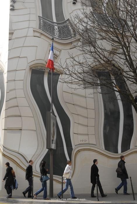 façade en trompe l'oeil, Paris.