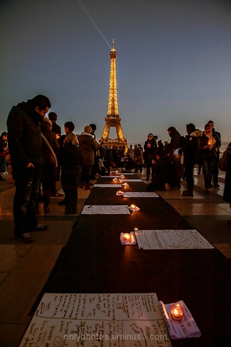 Hommage à Nelson Mandela, Trocadero.