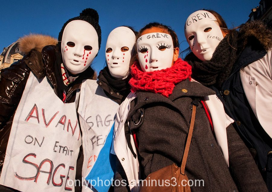 Manifestation des sage-femmes, Paris.