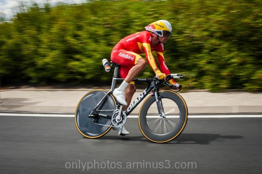 Sur la route du Tour de France.