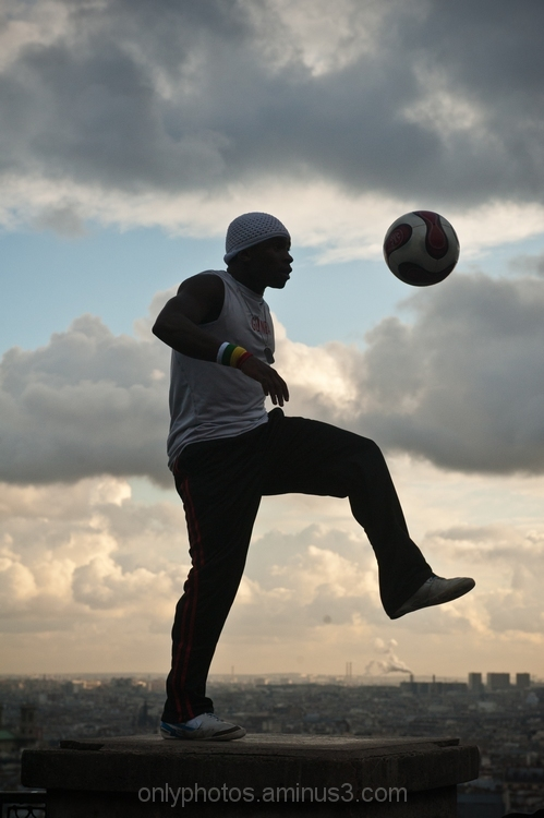 Sportif en contre-jour
