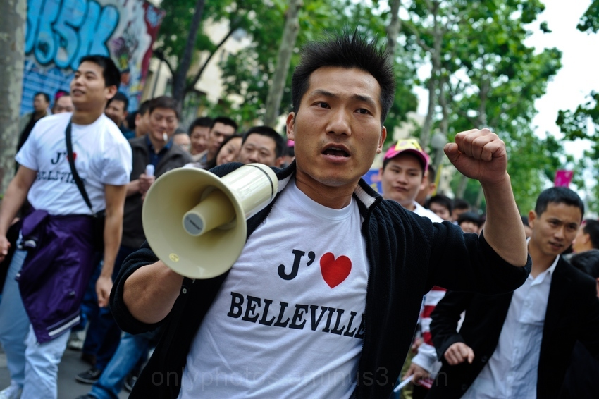 Manifestation de la communauté asiatique, Paris