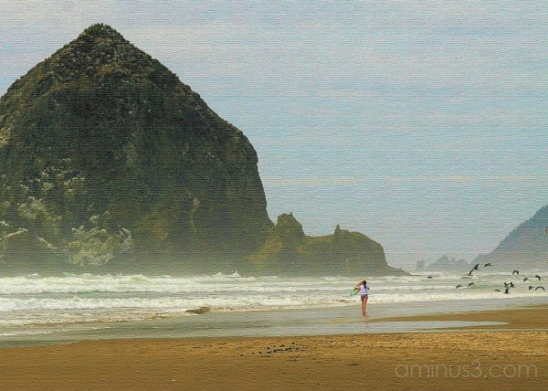 Cannon Beach Haystack Rock