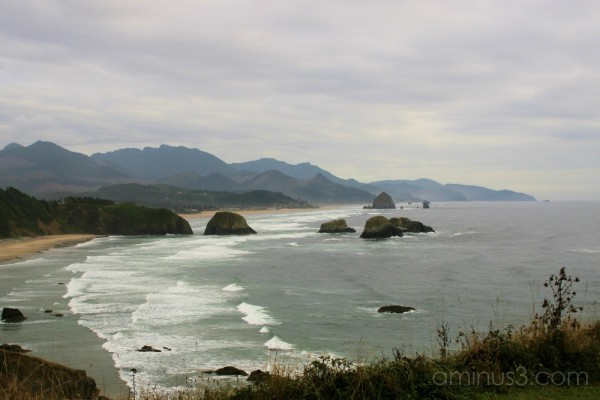 A cloudy day at Ecola State Park