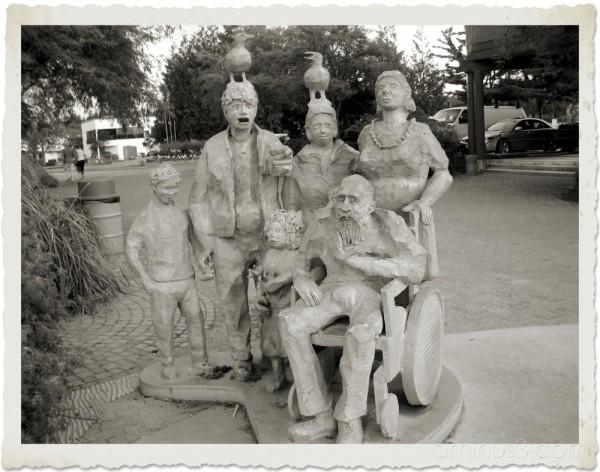 comical statue