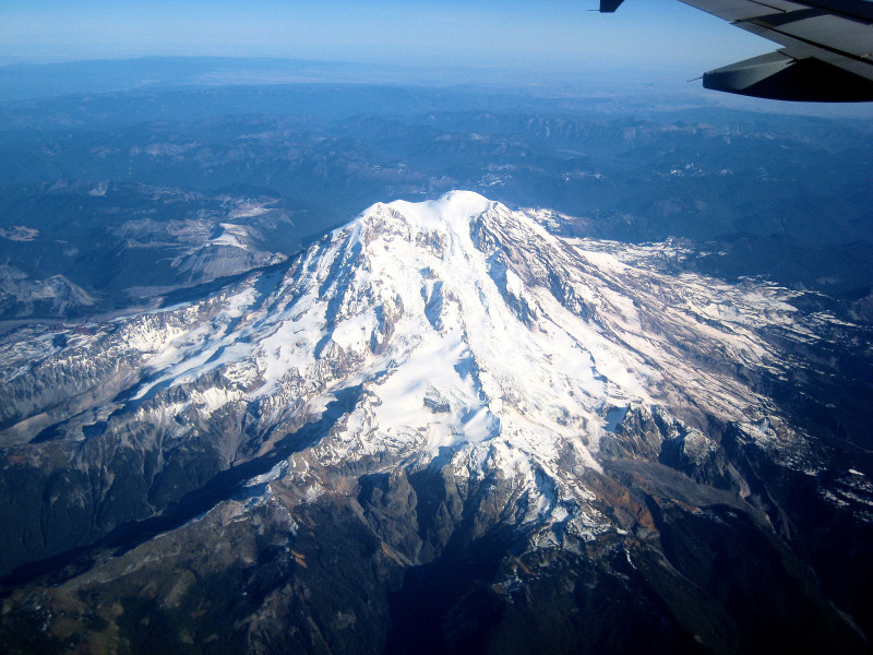Mount Rainier from above