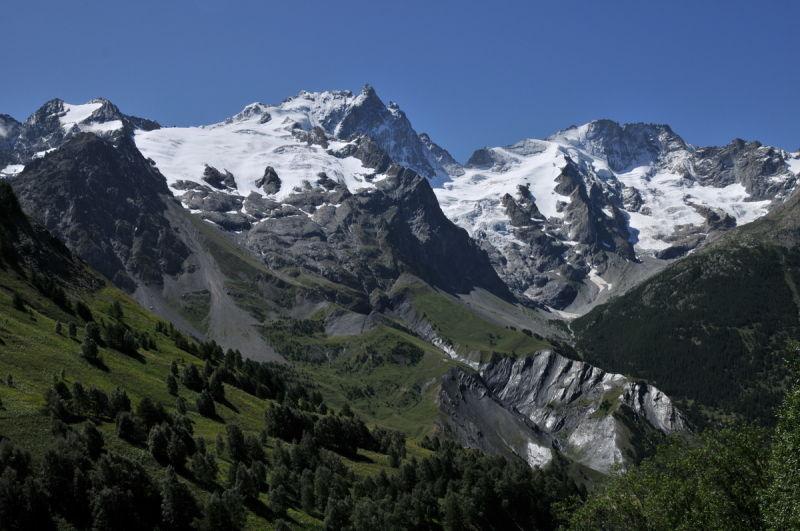 Dame Meije et son glacier.