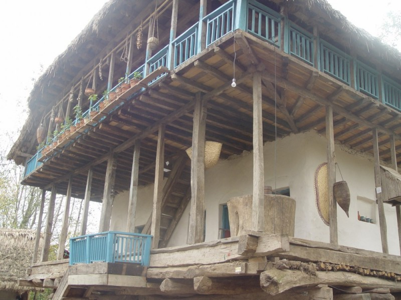 House  in an Open Air Museum in Rasht